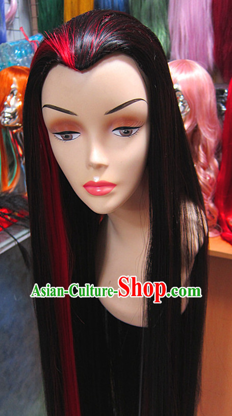 Chinese Traditional Scholar Swordsmen Wig Ancient Knight Men Wigs Ladies Wigs Male Lace Front Wigs Custom Hair Pieces