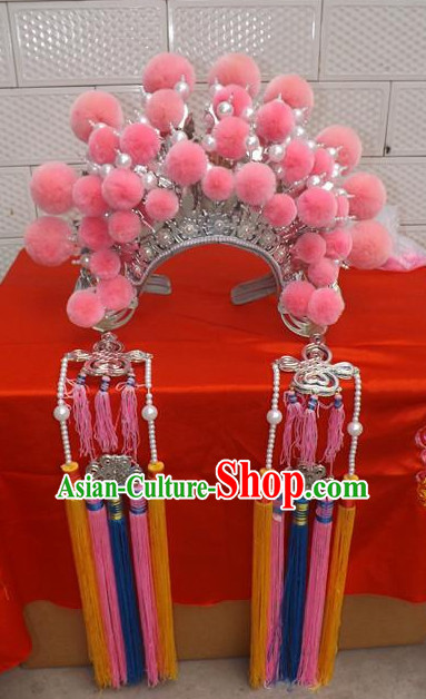 Traditional Chinese Opera Hat Hair Jewelry Hairpieces Phoenix Crown