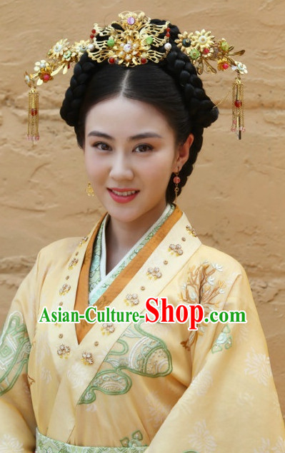 Ancient Chinese Prtincess Royal Imperial Hair Jewelry Hairpieces