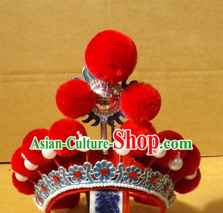 Traditional Chinese Opera Hat Hair Jewelry Hairpieces