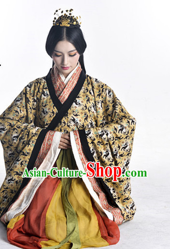 Ancient Chinese Clothing and Hair Jewelry Complete Set for Women