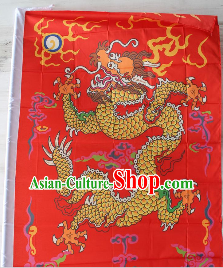 Big Asian Chinese Folk Dragon Flag Banners
