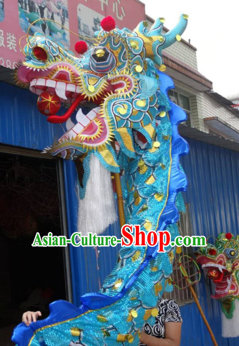 Top Best Blue Gold Beijing Olympic Games Opening Ceremony Dragon Dancing Costumes Complete Set