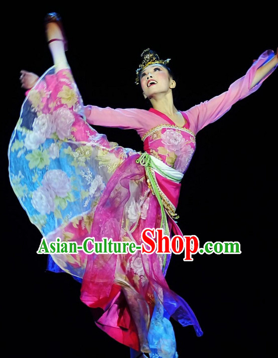 Tong Que Nv Traditional Chinese Classical Dancing Dancewear Dance Costumes for Women