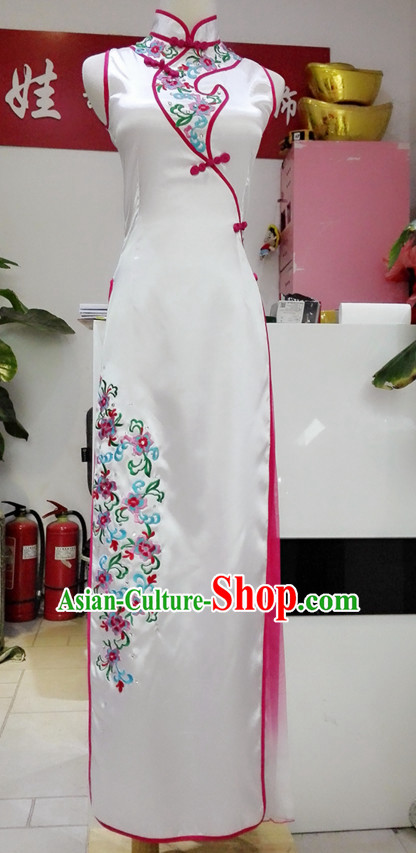 Chinese Classical Qipao Cheongsam Dance Costumes Complete Set for Women or Gilrs