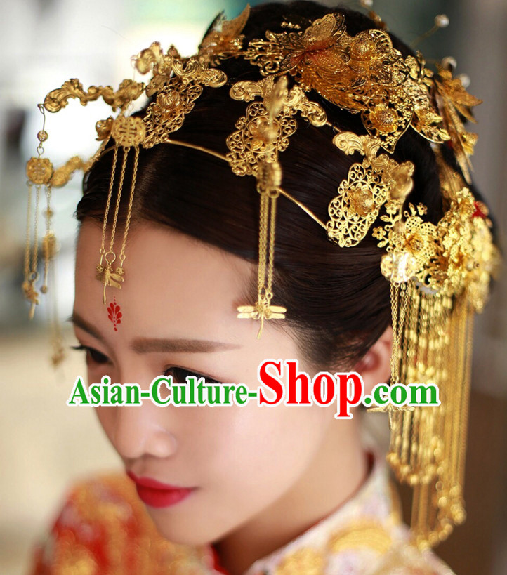 Chinese Classical Wedding Bridal Headpieces Hair Accessories