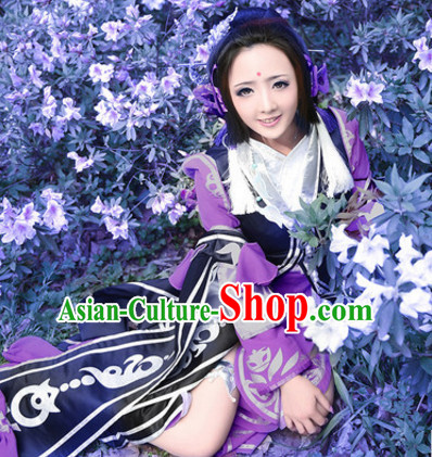Chinese Superhero Cosplay Costumes and Headdress Complete Set for Women