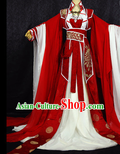 Gorgeous Chinese BJD Costumes Fairy Princess Empress Queen Cosplay Costumes Ancient Chinese Clothing Complete Set for Women