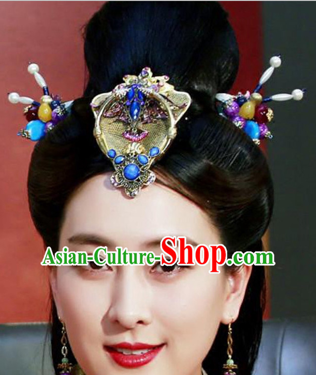 Ancient Chinese Handmade Imperial Headdress Hair Jewelry for Women