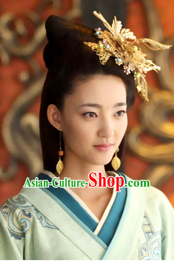 Ancient Chinese Handmade Hanfu Headdress Hair Jewelry for Women