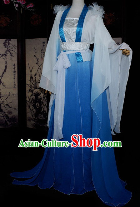 Chinese Traditional Fairy Princess Costumes Complete Set for Girls Women