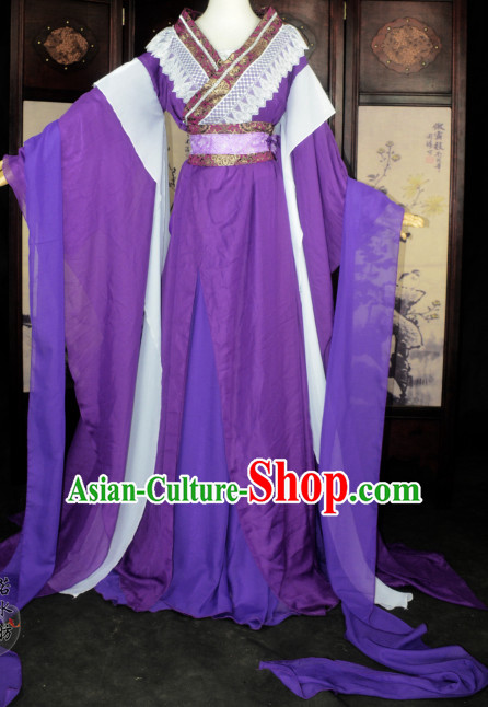 Chinese Traditional Ancient Princess Costume Complete Set for Women