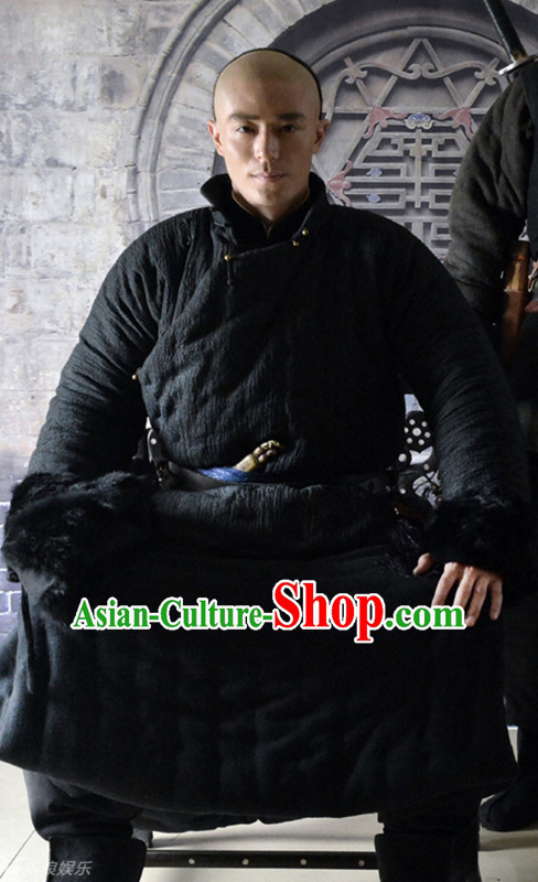 Chinese Kungfu Master Self Defense Movice Costume Complete Set for Men