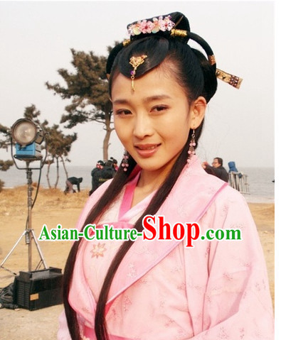 Chinese Ancient Type of Wigs and Hair Clips for Women