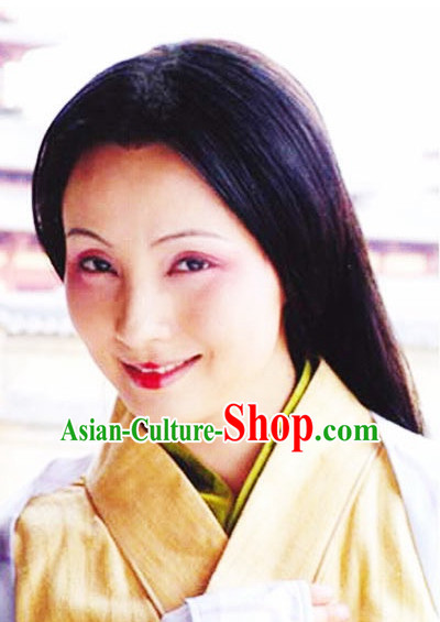 Qin Dynasty Chinese Classic Type of Imperial Empress Women Long Black Wigs for Women
