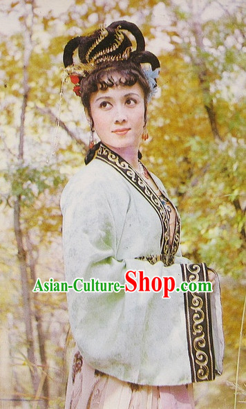 Ancient Chinese Farmer Lady Costumes Complete Set