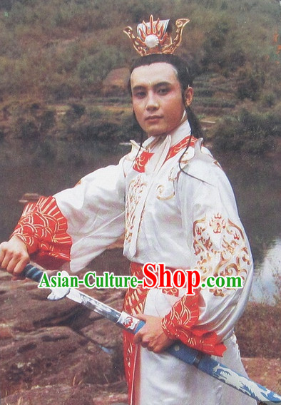 Journey to the West Women White Dragon Horse and Hair Accessories Complete Set for Men
