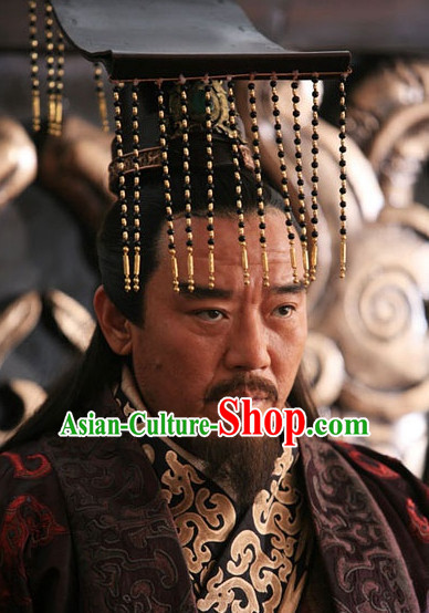 Chinese Qin Dynasty Male Hairstyles Emperor Crown Coronet for Men