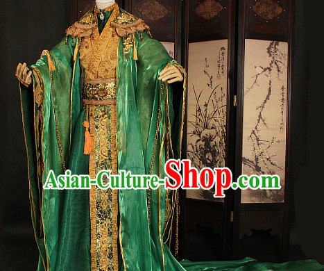 Gorgeous Chinese Emperor Prince Costumes Ancient Chinese Clothing Complete Set for Men