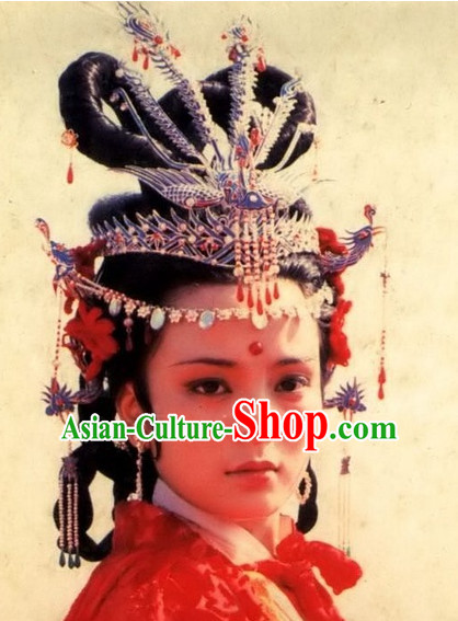 Dream of Red Chamber Empress Imperial Noblewoman Big Phoenix Hair Accessories for Women or Girls