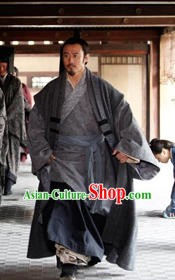 Ancient Chinese Style Dress Authentic Clothes Culture Peasant Costume Han Dresses Traditional National Dress Clothing Complete Set for Men