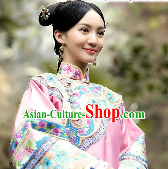 Ancient Chinese Mandarin Style Hanfu Dress Authentic Clothes Culture Costume Han Dresses Traditional National Dress Clothing and Hat Complete Set for Women