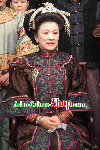 Chinese Style Hanfu Dress Authentic Clothes Culture Costume Han Dresses Traditional National Dress Clothing and Headdress Complete Set for Women