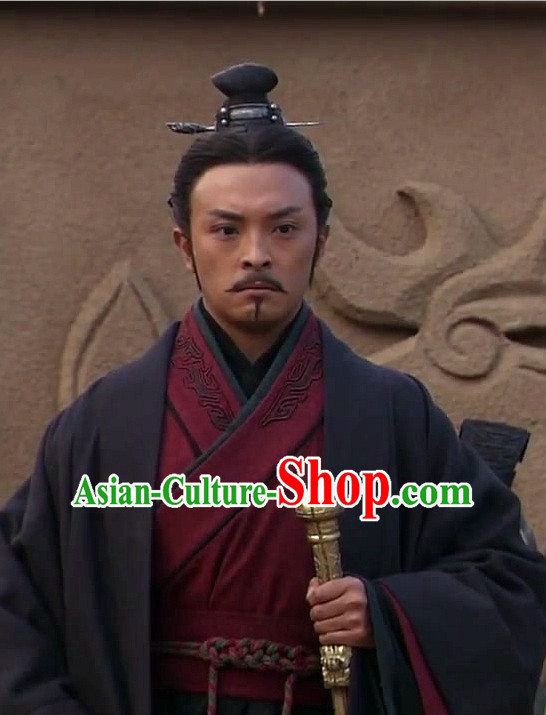 Ancient Chinese Han Dynasty Minster Black Wig for Men and Boys