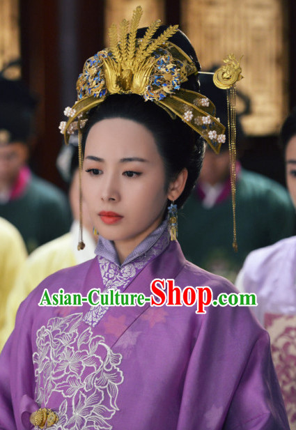 Ming Dynasty Chinese Traditional Style Empress Hair Accessories for Women Girls