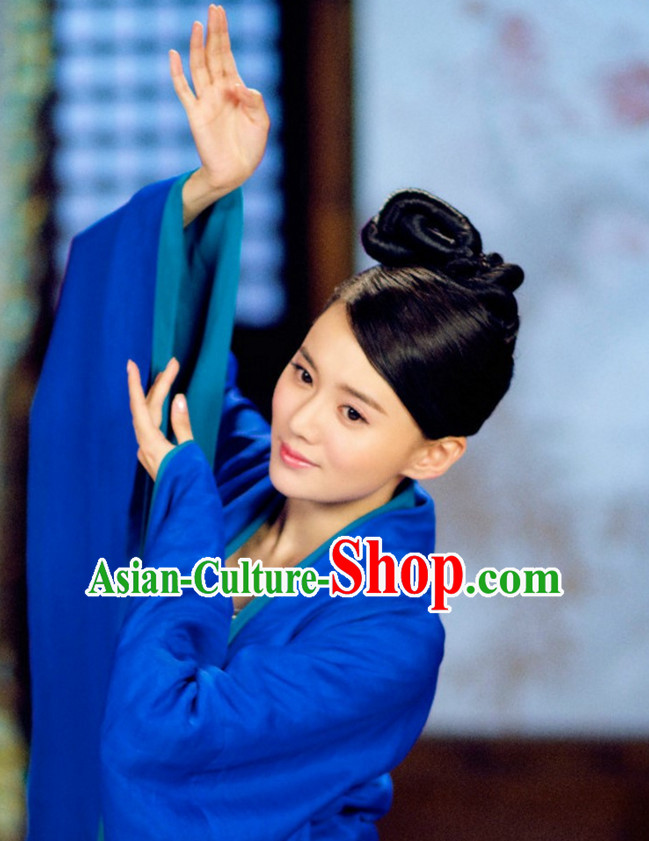 Ancient Chinese Traditional Style Fairy Black Wigs Hair Sticks for Women Girls