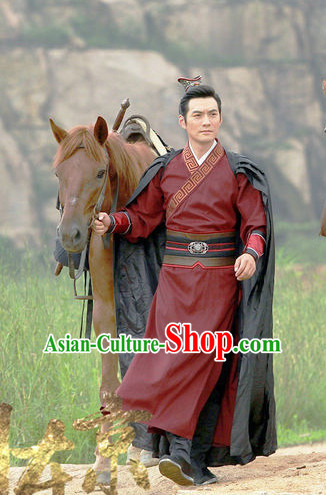 Ancient Chinese Style Prince Costumes Dress Authentic Clothes Culture Han Dresses Traditional National Dress Clothing and Headdress Complete Set