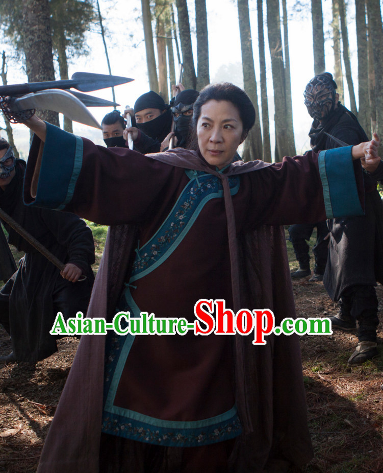 Chinese Mandarin Style Kung Fu Master Costume Dress Authentic Clothes Culture Han Dresses Traditional National Dress Clothing Complete Set for Ladies