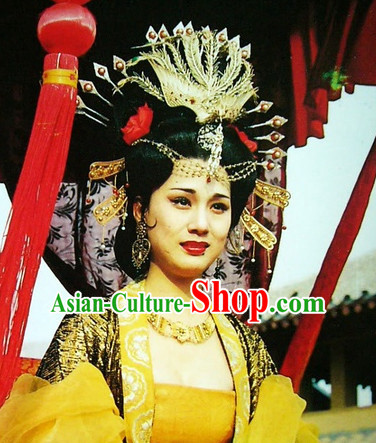 Ancient Chinese Style Empress Black Wigs and Headwear for Women