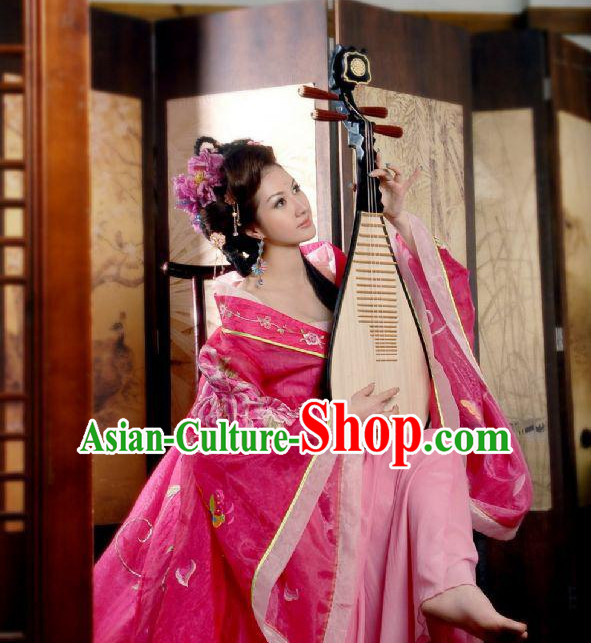 Chinese Classical Musician Costumes and Headdress Complete Set for Men