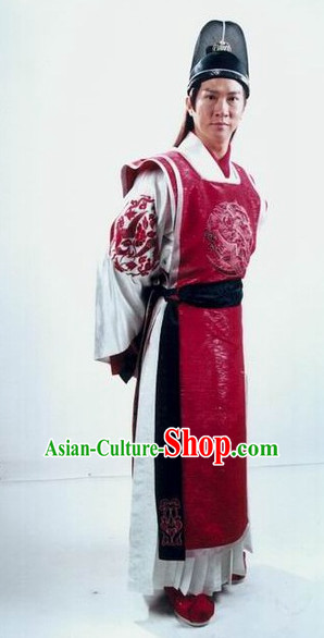 Ancient Chinese Style Superhero Costumes Dress Authentic Clothes Culture Traditional National Clothing Complete Set