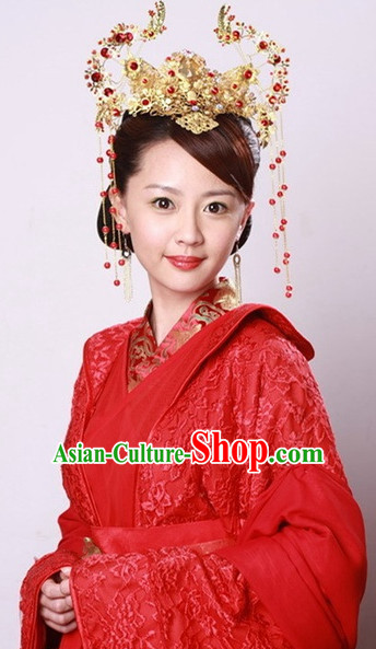 Traditional Chinese Style Brides Hair Jewelry Set