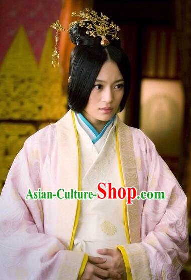 Traditional Chinese Princess Black Wig and Hair Accessories Complete Set