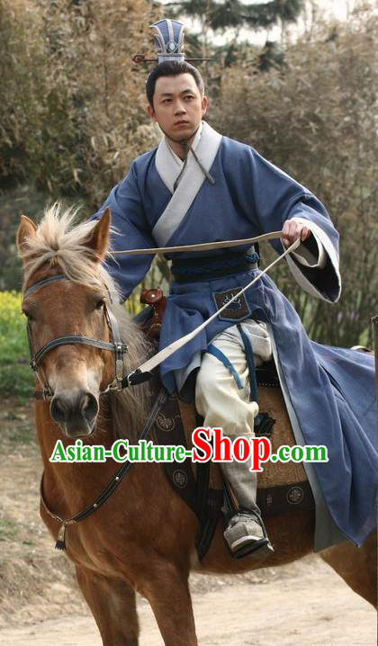 Ancient Chinese Style Hanfu Clothing Complete Set for Men Boys