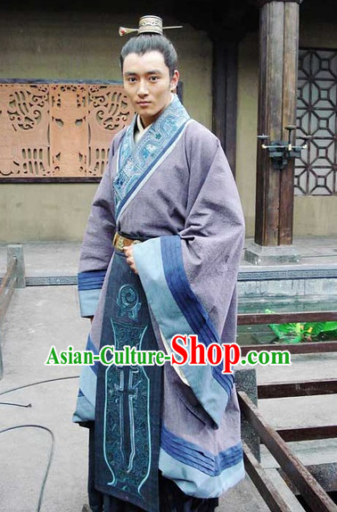 Traditional Chinese Ancient Hanfu Suits Complete Set for Men