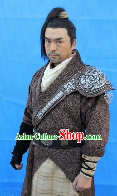 Traditional Chinese Ancient Fighter Costumes Complete Set for Men