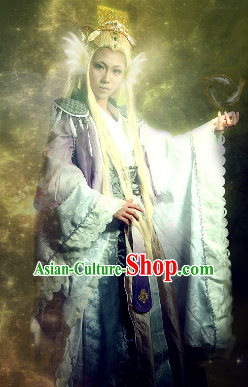 Chinese Cartoon Character Cosplay Costumes Complete Set for Men