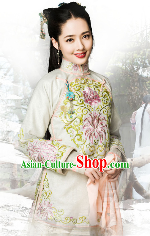 Traditional Chinese Style Mandarin Clothing Complete Set for Women