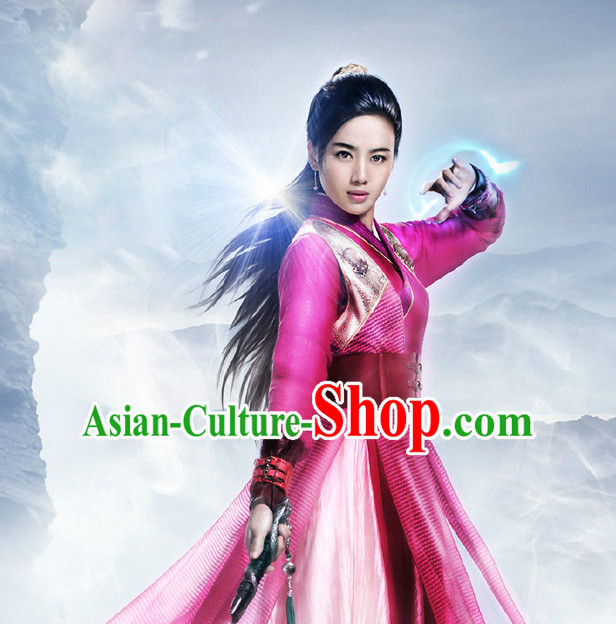 Ancient Chinese Fairy Suits and Hair Jewelry Complete Set for Women