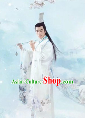 Ancient Chinese Men Clothes Complete Set