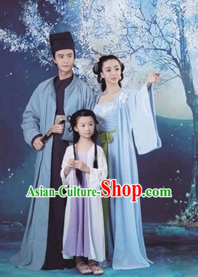 Ancient Chinese Husband and Wife Dresses 2 Complete Sets