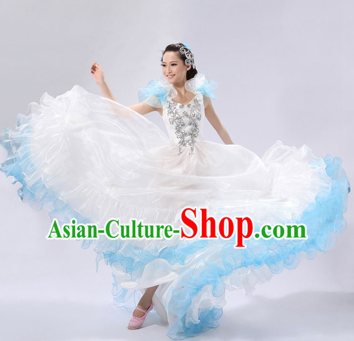 Chinese Stage Spainish Dance Costume and Headdress for Women