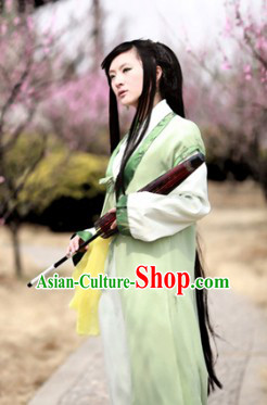 Ancient Chinese Style Hanfu Lady Clothes Complete Set