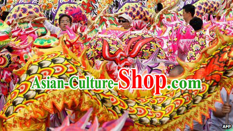 College Traditional Chinese Illuminated Dragon Dance Costumes Complete Set