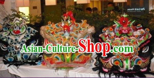 Top Ancient Chinese Traditional Futsan Style Lion Dancing Costumes Complete Set