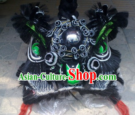 Top Ancient Chinese Zhang Fei Traditional Futsan Style Lion Dancing Costumes Complete Set